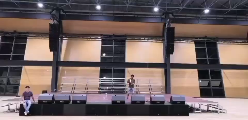 【JSL爵士龙案例】江西省国家电网上饶分公司体育馆专业音频扩声系统