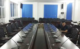 爵士龙案例-广东佛岗陶瓷企业集团会议室
