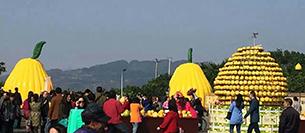 爵士龙舞台音响设备注入梁平采柚节开幕式