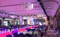 宴会厅采用专业线阵音响系统