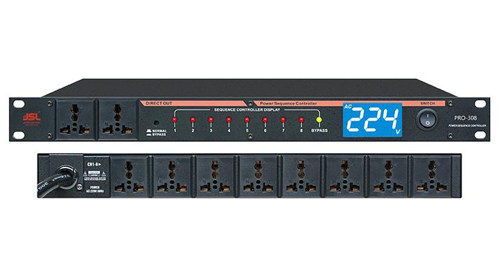 爵士龙专业音响电源时序器PRO-308